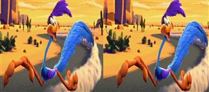 fur of flying 3D animated cartoon sbs demo clip